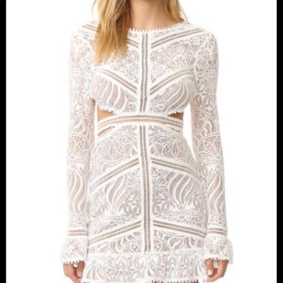 fbaa5832289c4 For Love And Lemons Dresses & Skirts - For Love & Lemons Emerie White Cut-